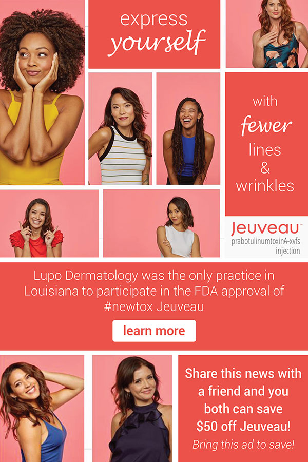 $50 off Your First Jeuveau Treatment in New Orleans, LA