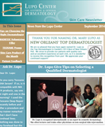 Dr Mary Lupo Lupo Center for Aesthetic and General Dermatology September 2014